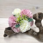 Carnation & Rose Bouquet - Pink/White